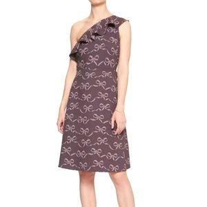 Banana Republic Factory Purple Bow Print Dress 14